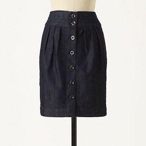 EUC {Anthro} Pilcro Button Front Denim Skirt